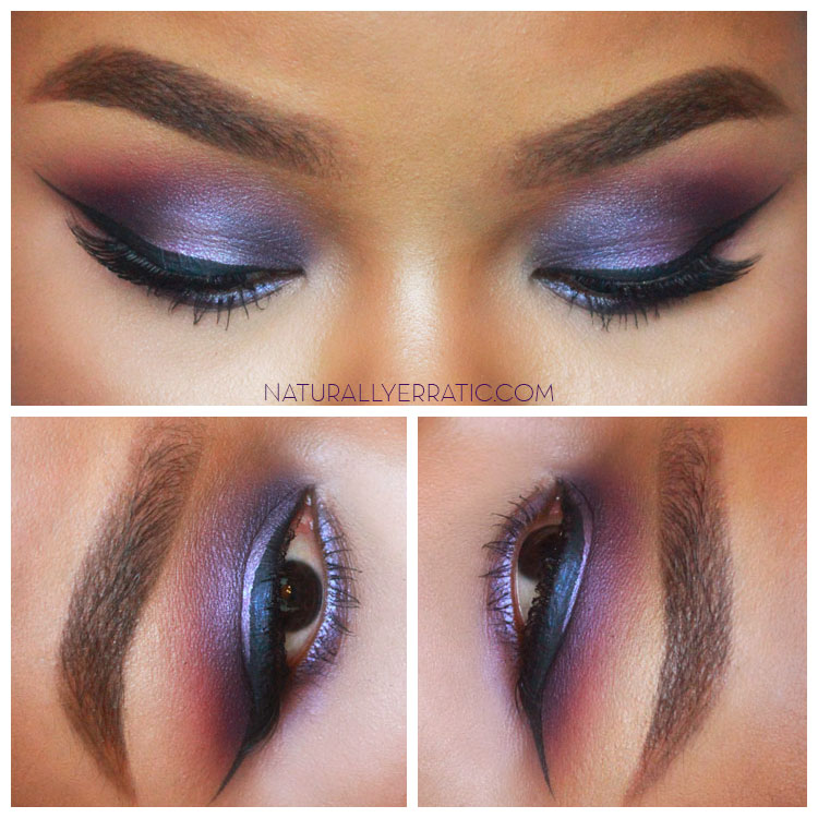 Purple makeup, Smokey eye makeup