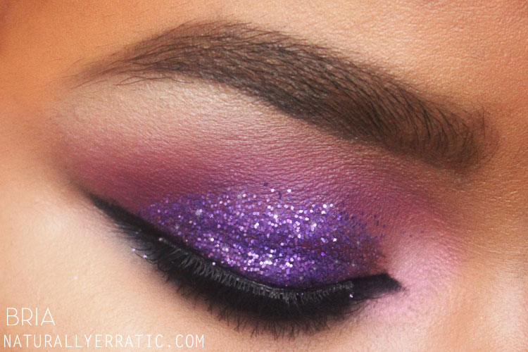 Purple Smokey eye, Glitter Makeup, Purple Makeup