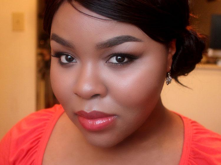Coral Lipstick, Marilyn Monroe Makeup, WOC makeup blog