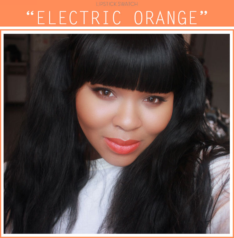 Maybelline Electric Orange Lipstick Swatch