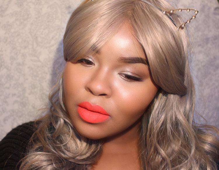 Red lipstick, Velvetines, Blonde Hair, Gray Hair, Platinum hair, Cat ears, suedberry