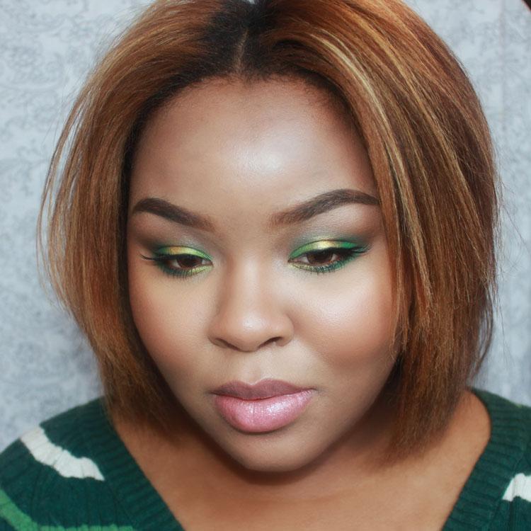 Green Makeup, Christmas Makeup, Holiday Makeup, Sugarpill Makeup, Beauty Blog, Makeup Blog