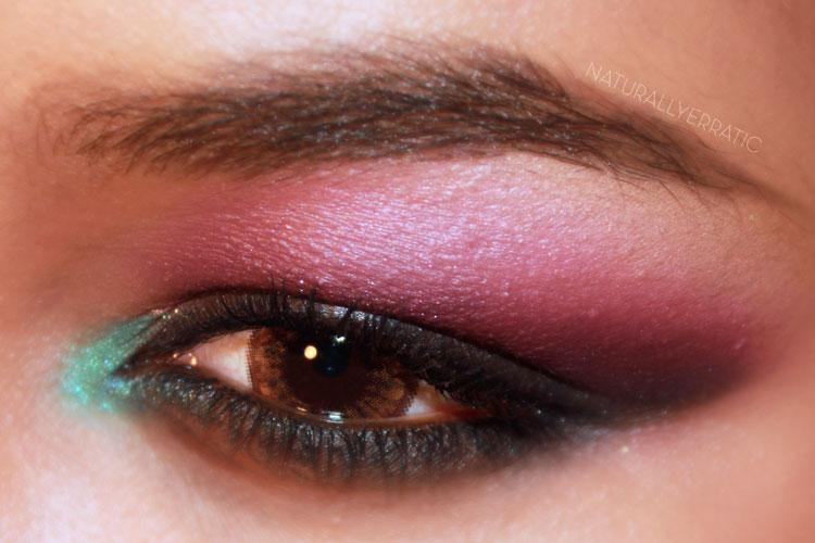 Black Purple Blue Smokey Eye Makeup