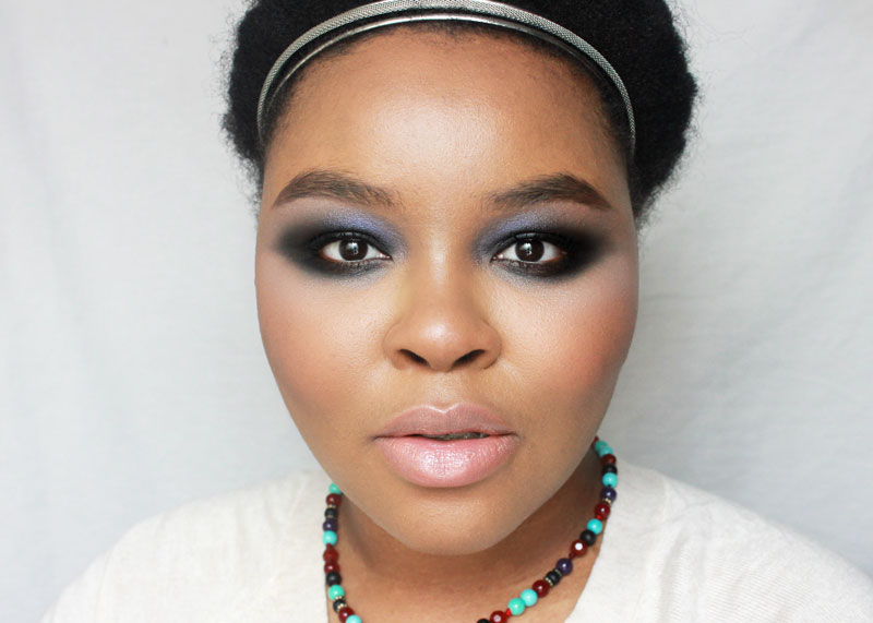 Winter Makeup, Smokey Eye Makeup, Black eye makeup, woc makeup, makeup for dark skin