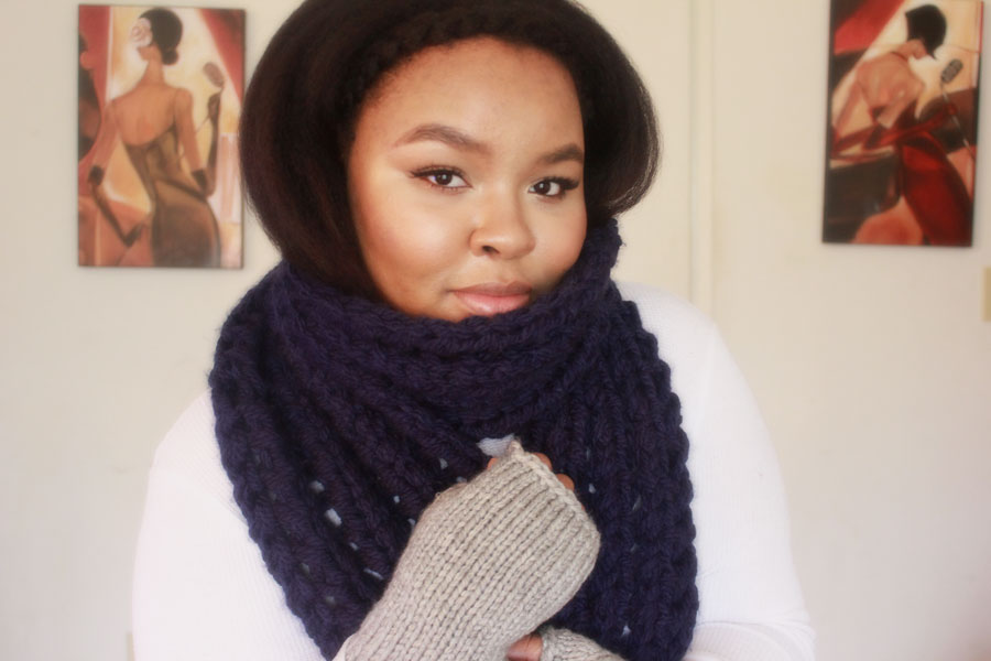 Winter scarf, chunky winter scarf