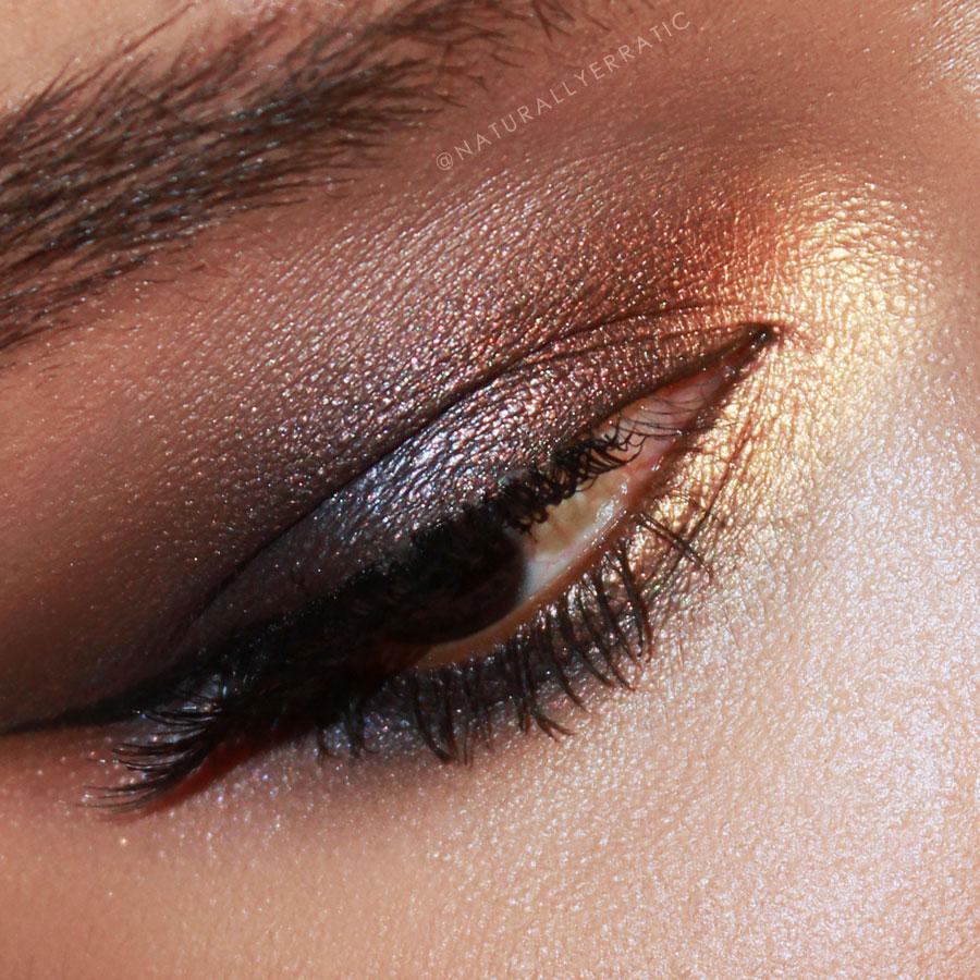 smokey eye makeup, metallic eye shadow, makeup for dark skin