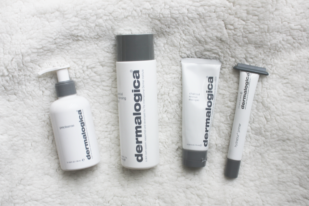 Dermalogica Pre Cleanse, Special Cleansing Gel, Charcoal Rescue Masque, Hydrablur Primer