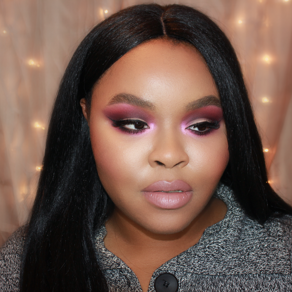 Purple Smokey Eye Makeup, Nude Lips for Dark Skin, Occ Lip Tar Dash