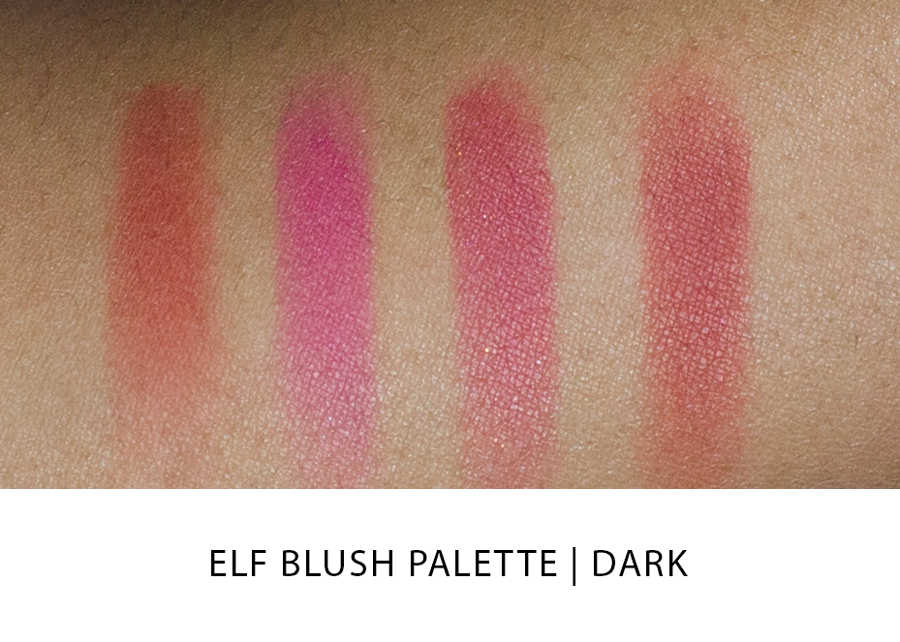 ELF  Blush Palette Swatches