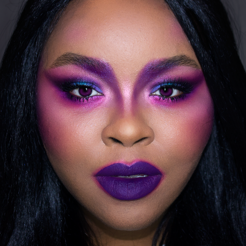 Dramatic Purple Makeup