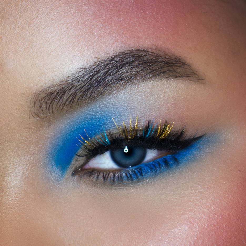 Colored Eyelashes, Marie Antoinette Eye Makeup