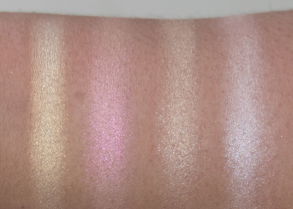 Anastasia Beverly Hills Sugar Glow Kit Swatches  Marshmellow, Gumdrop, Butterscotch, Starburst