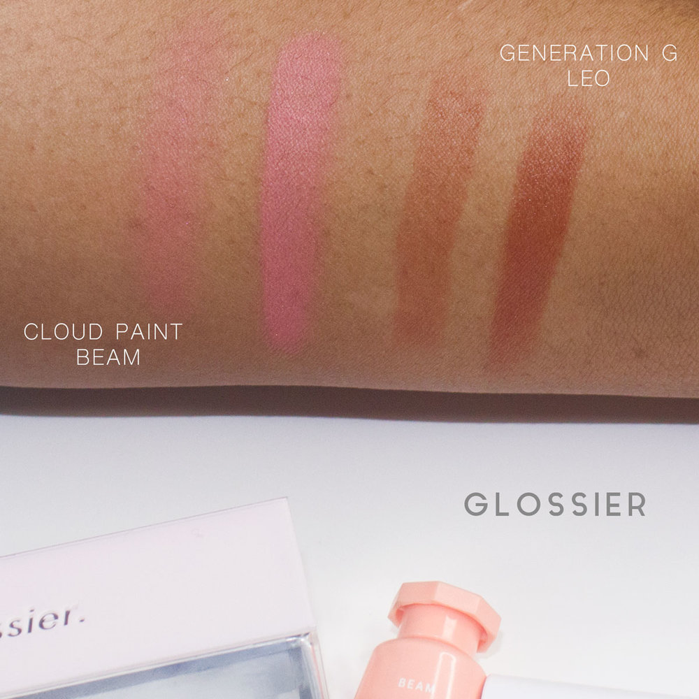 Glossier - Cloud Paint Beam Swatch, Generation G Leo Swatch