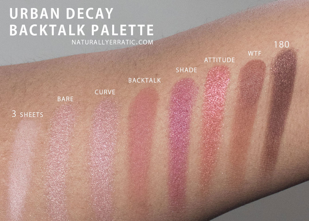 Urban Decay Backtalk Palette Review Naturally Erratic