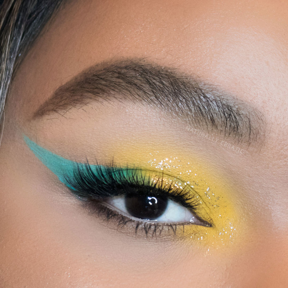 yellow festival eye makeup