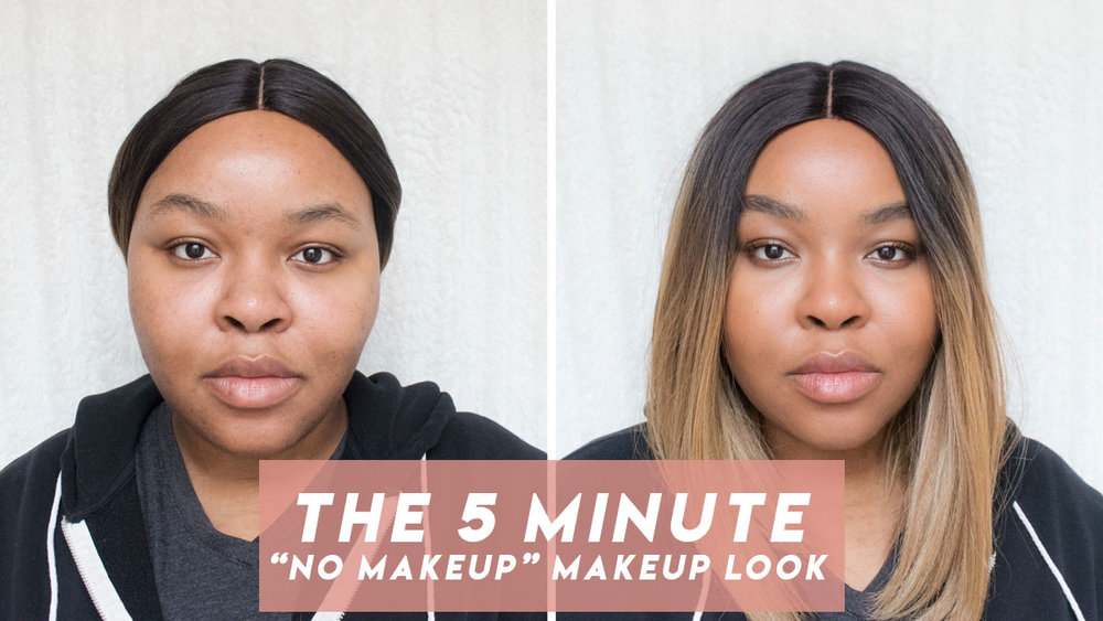 Before and After Makeup, Naked Skin One and Done Dark