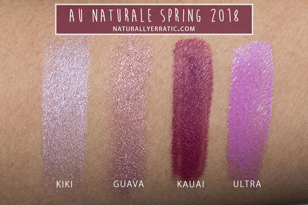 Au Naturale Makeup Swatches and Review