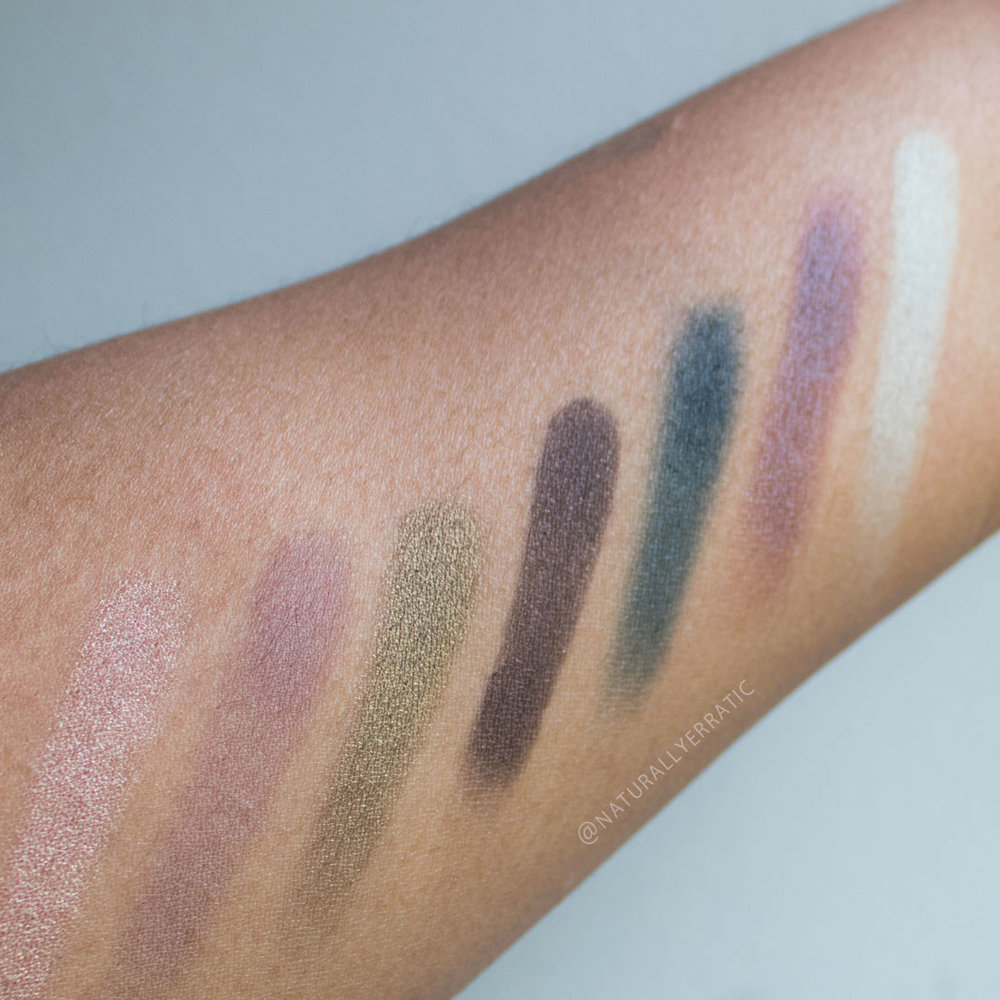 elf cosmetics posh peacock eyeshadow swatches and review