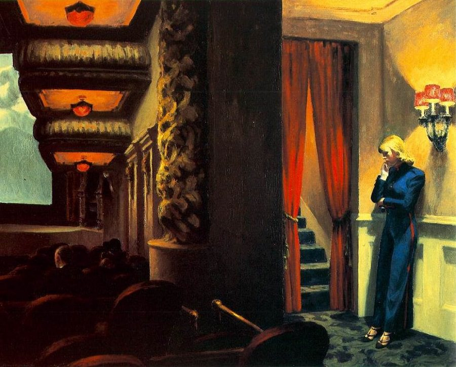 "Edward Hopper, ""New York Movie,"" 1939"