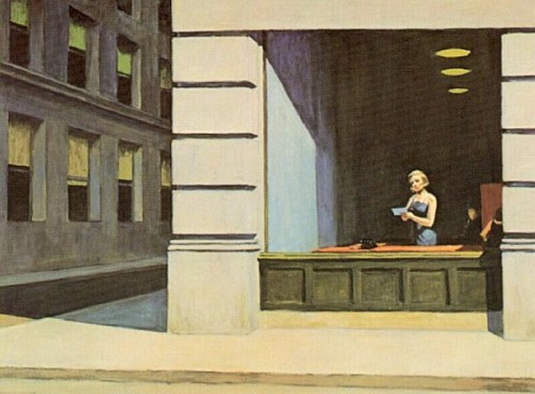 "Edward Hopper, ""New York Office,"" 1962"