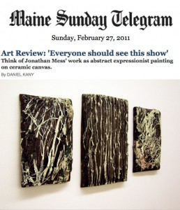 "Maine Sunday Telegram, Art Review: ""Everyone should see this show"""