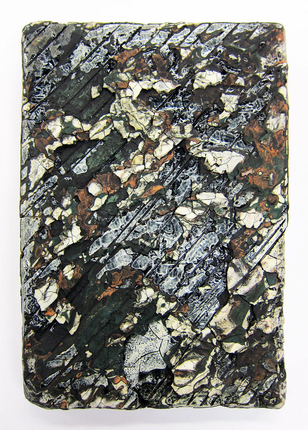 "<em>Small Traces Slab No.11</em> <span style=""color:#CC0000;font-size:1.5em;"">•</span>"