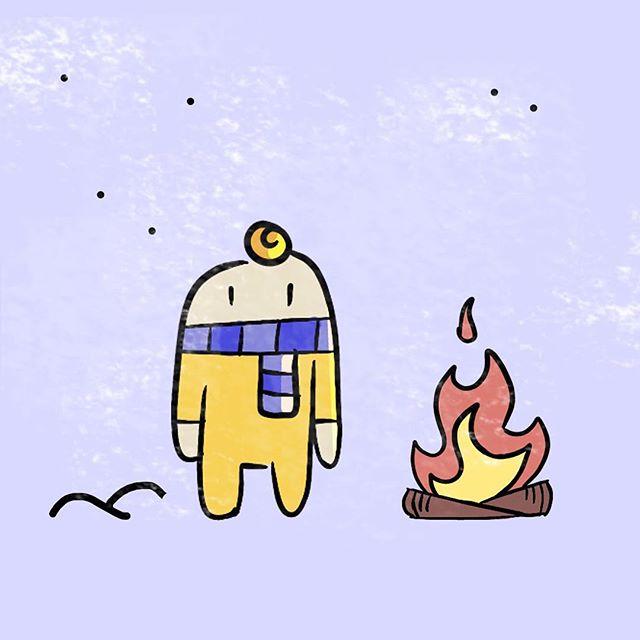 Little Winter Buddy: CINNABON Compulsive baker, scarf aficionado, and pyromaniac.  Winter Campaign 2018 . . . . . . . #doodle #draw #drawing #illustration #oc #scandinaviandesign #scandinavianstyle #winter