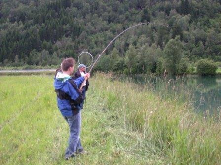 Kjøring av sterk julilaks i Stryn. Trond sin første, men ikke siste