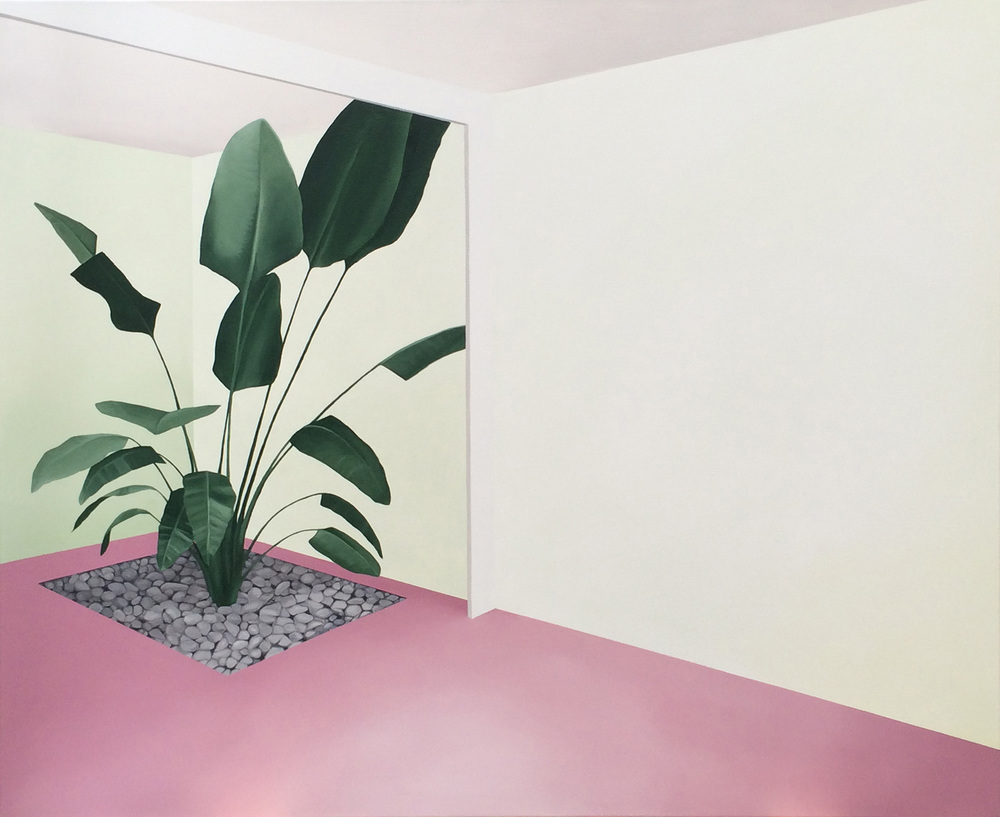 Pink Oasis,  oil on canvas, 107 x 122cm, 2016