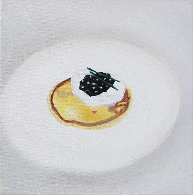 Blini, oil on canvas, 20 x 20cm, 2018