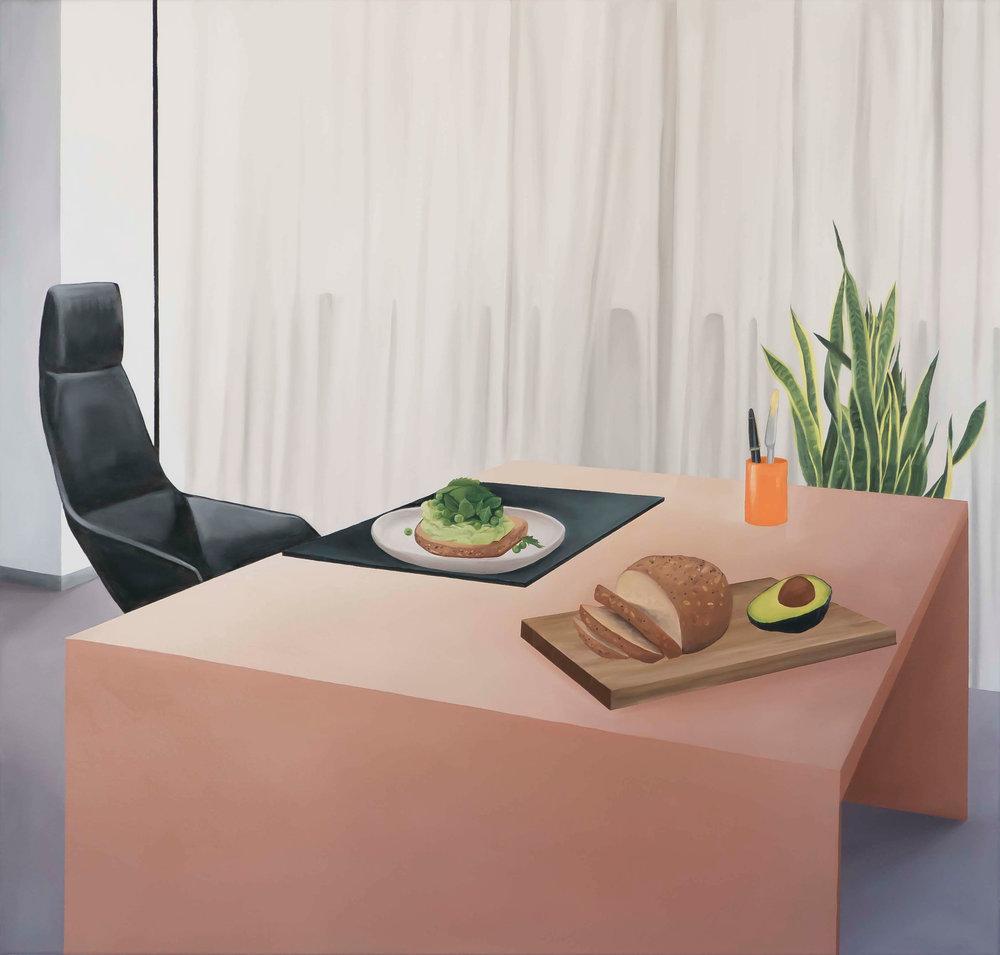 Breadwinner, oil on canvas, 107 x 122cm, 2018