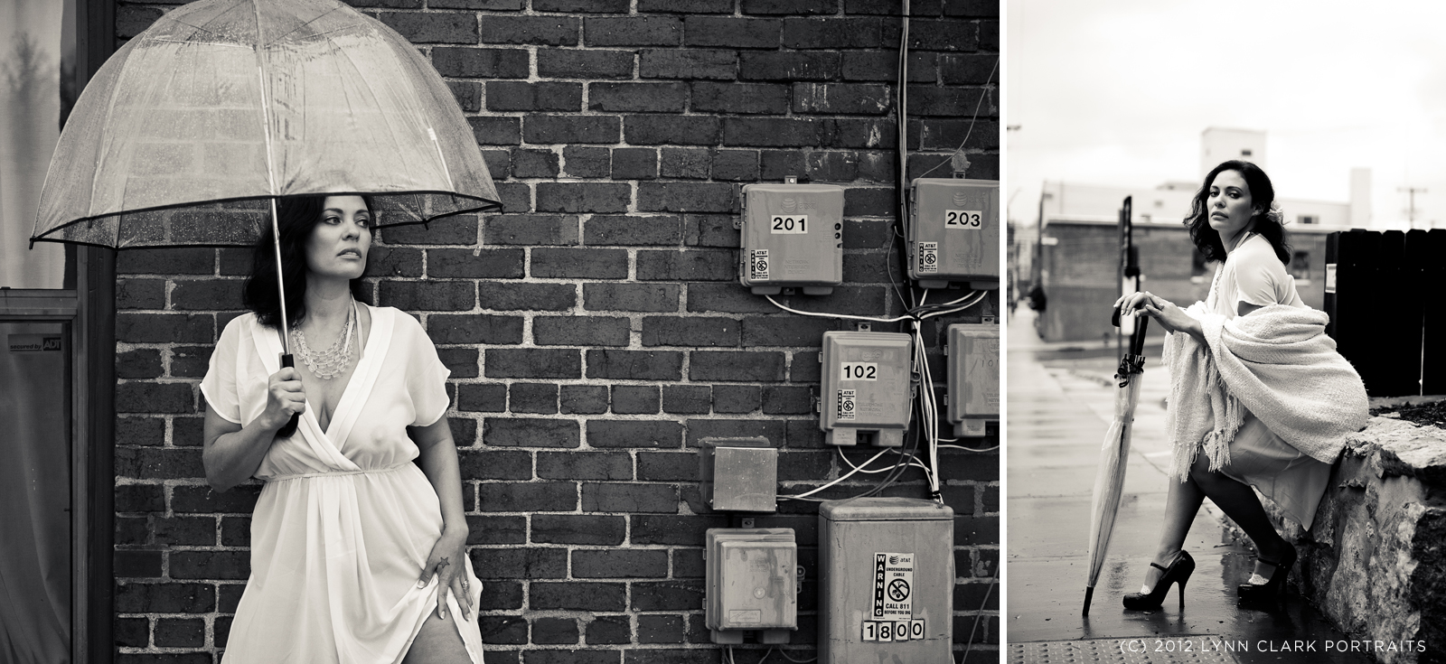 Boudoir photos in an alley