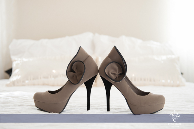 Beautiful shoes add pizazz to your boudoir session