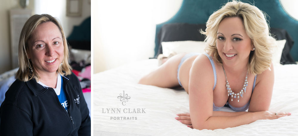 Boudoir before and after photo