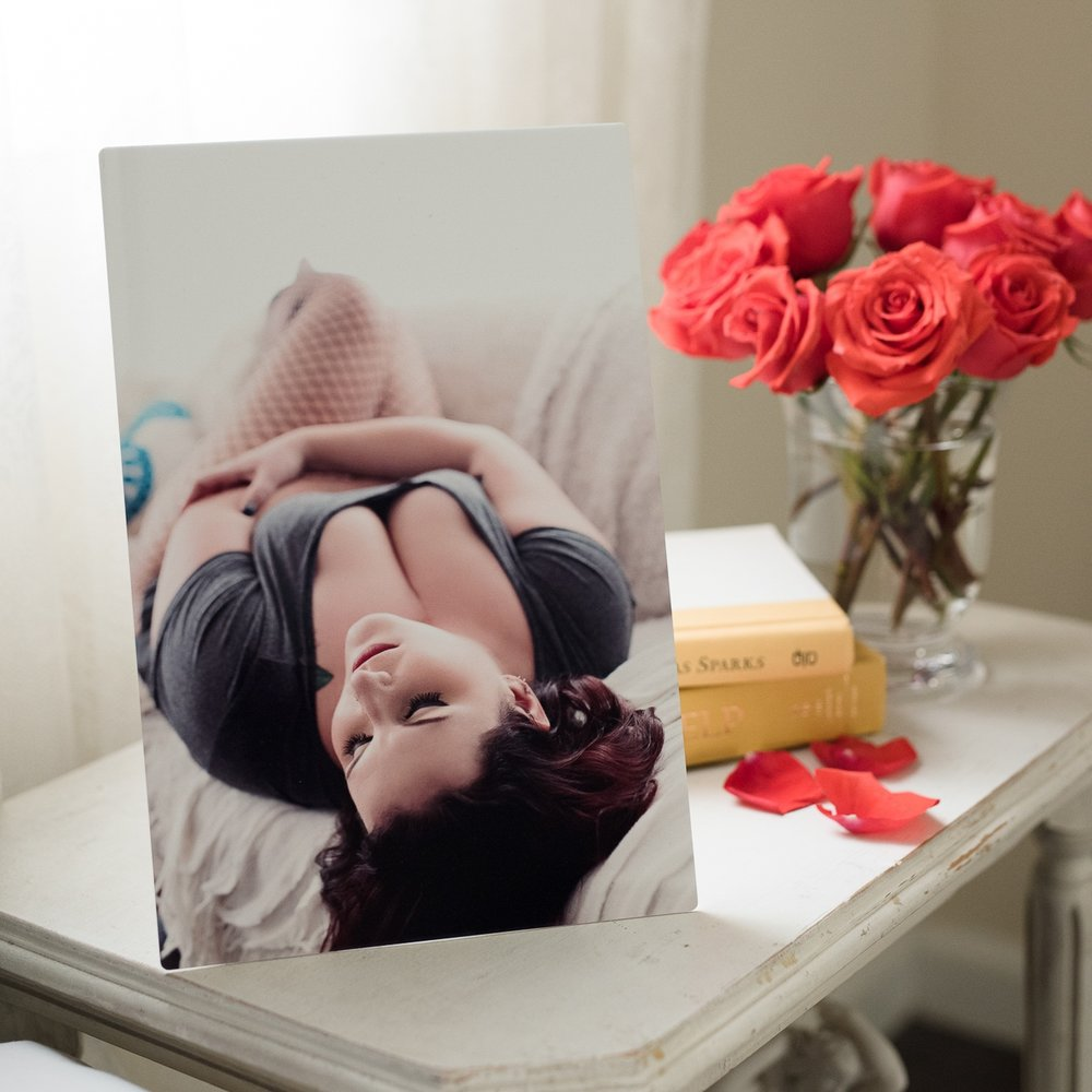 Purchase 10-14 photos - Receive Complimentary Desktop Art, {5x7 metal print with easel back}100 value