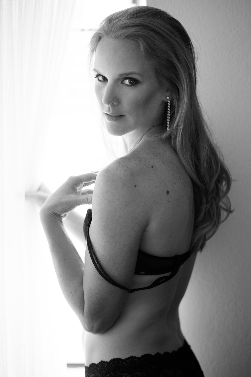 black and white boudoir photo Colorado photographer