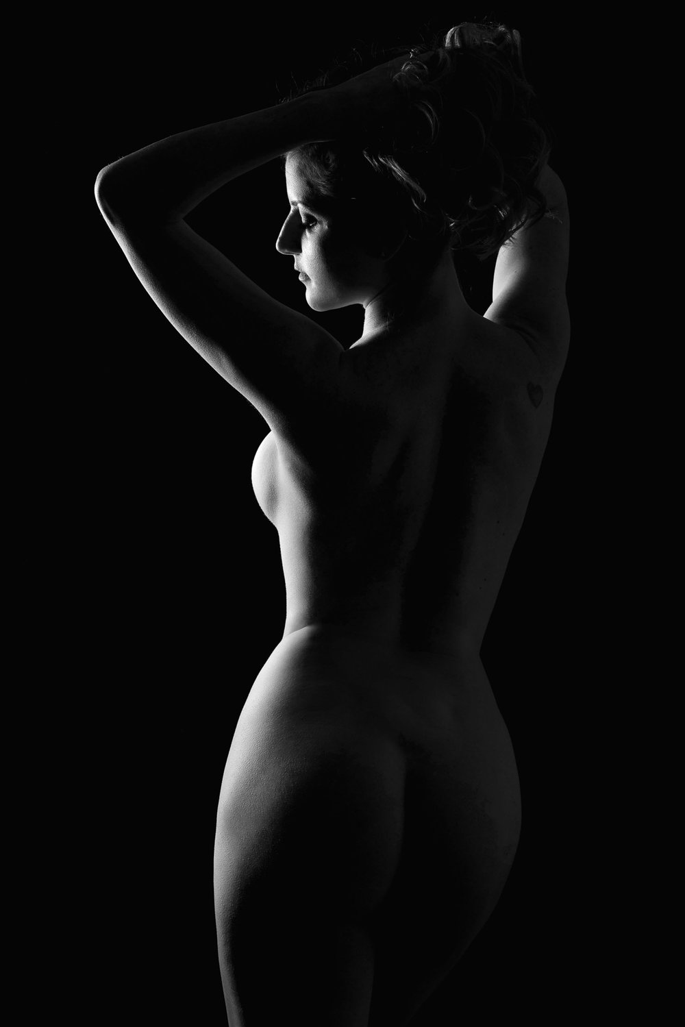 Art nude photography black and white