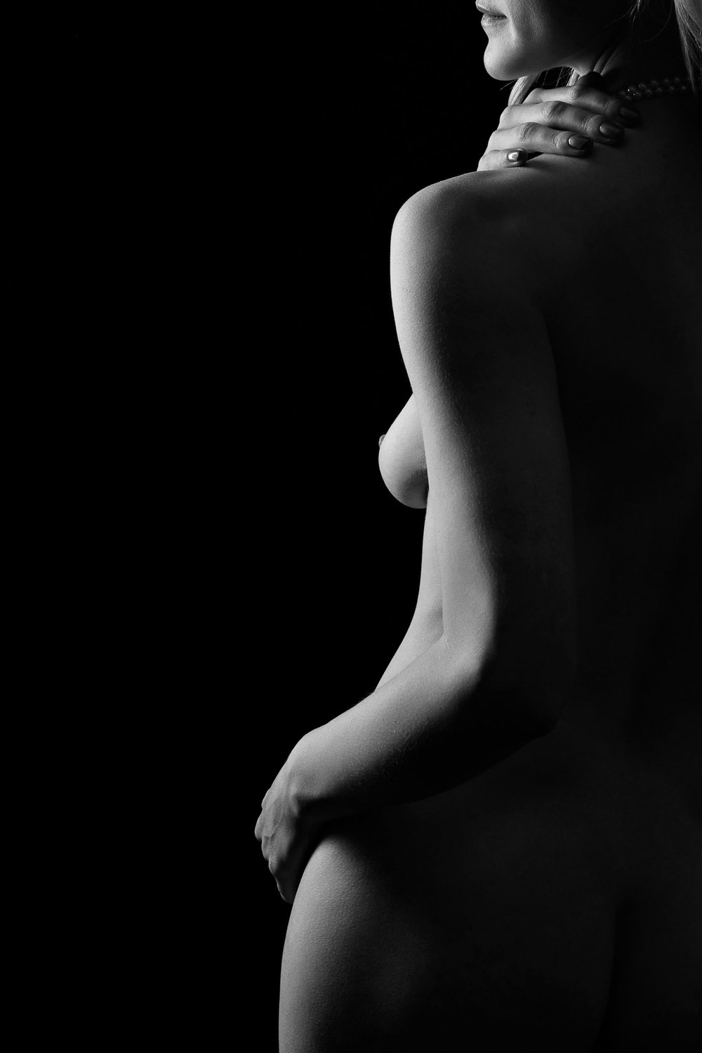 black and white fine art nude
