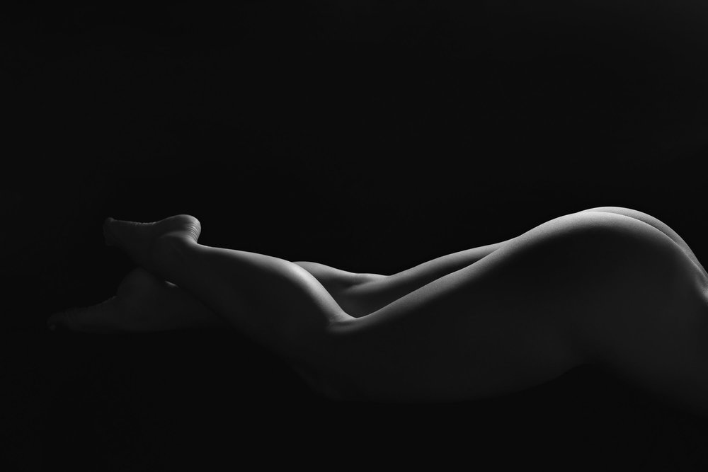 Bodyscape photo of woman's legs