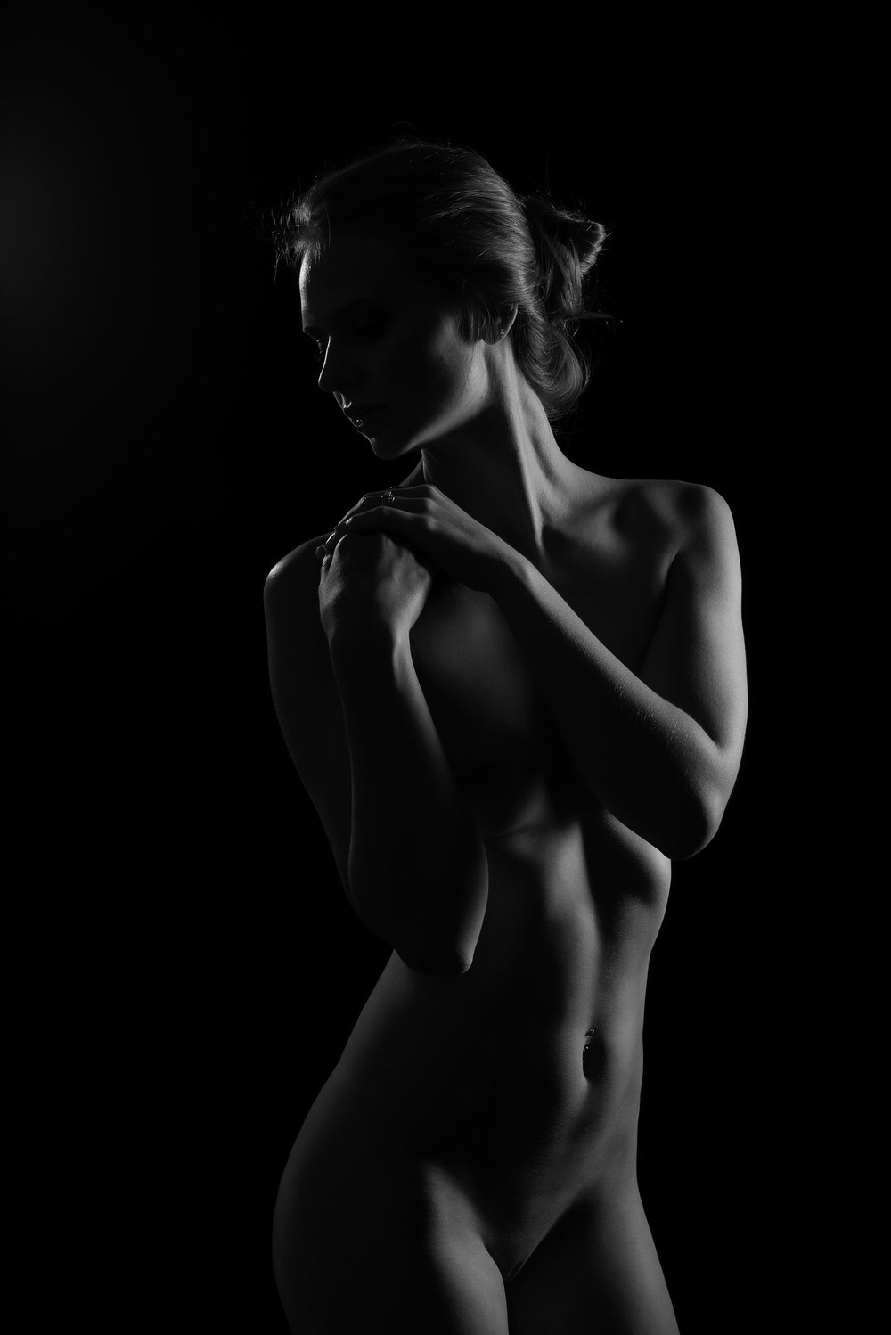 Silhouette of fit woman Fitness photographer