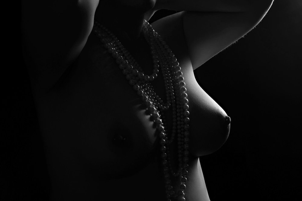 black and white bodyscape photography