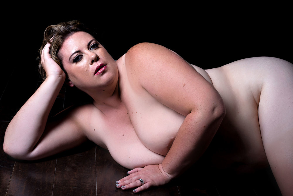 bodyscape photograph of plus size woman