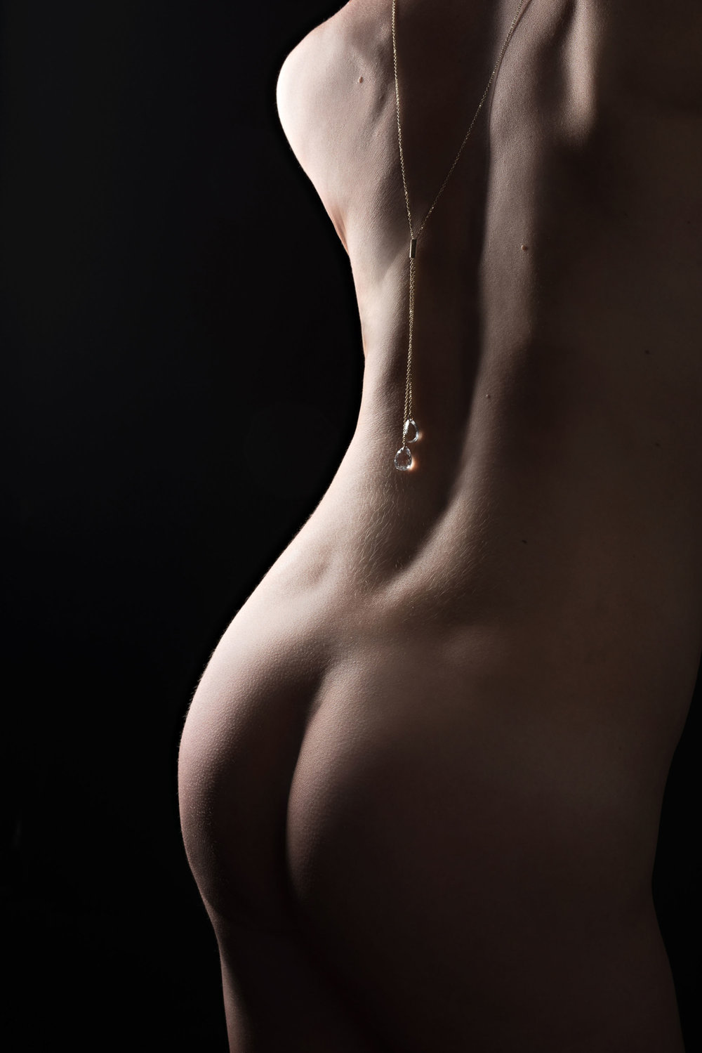 Bodyscape photo of woman's back