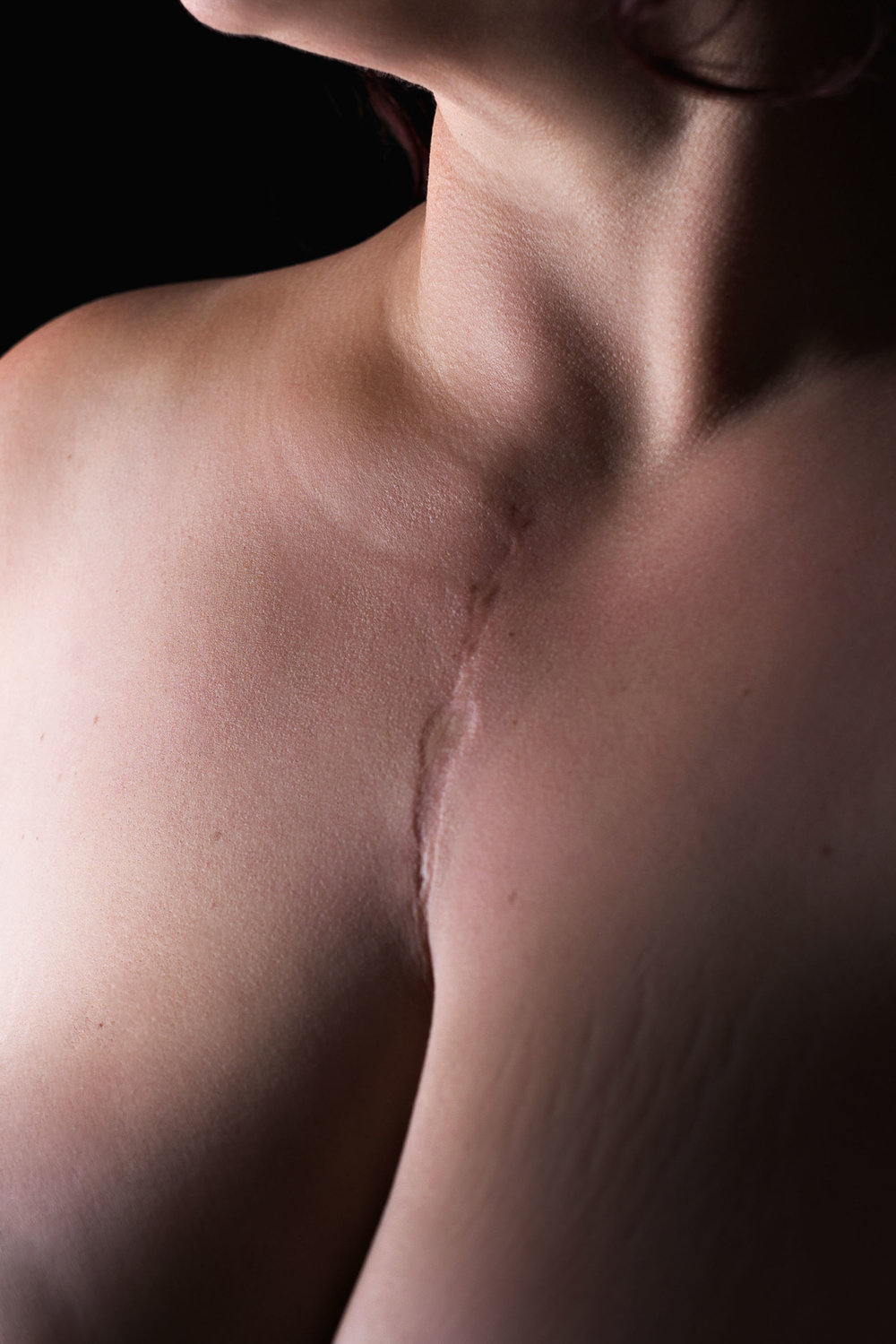 bodyscape of woman's chest