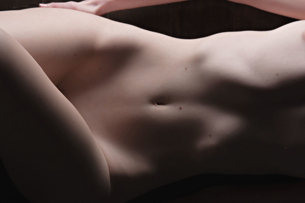 Bodyscape of woman's torso