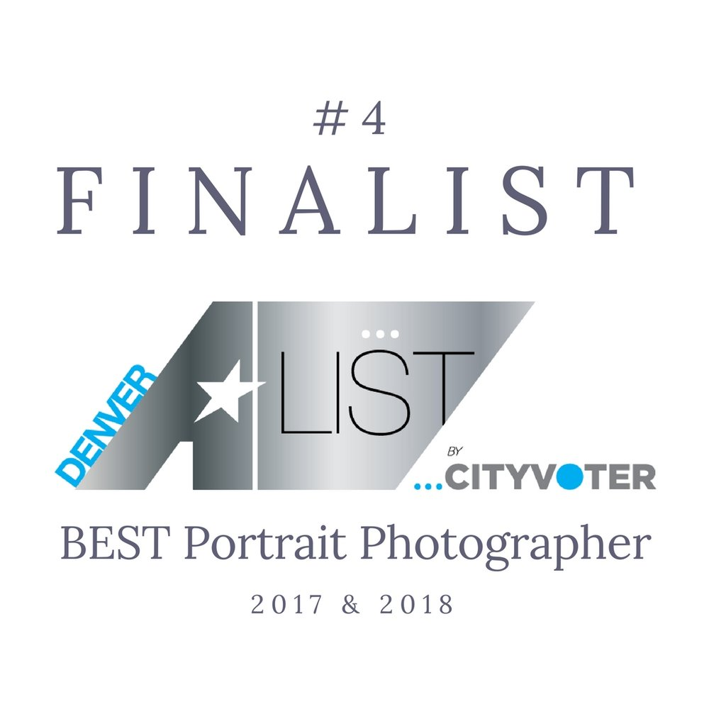 Denver Best Portrait Photography Winner 2017 and 2017