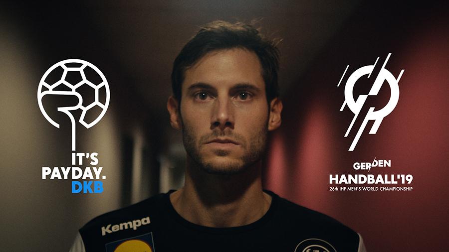 Uwe Gensheimer in der DKB Kampagne für die Handball Weltmeisterschaft 2019 @ DKB