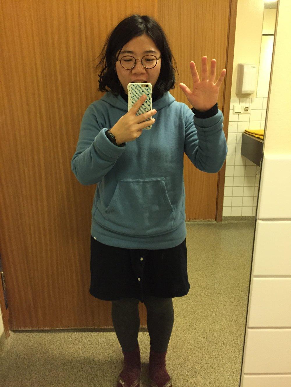 不過我卻發現我有在青年旅館的廁所自拍一張 ( iphone 6 )