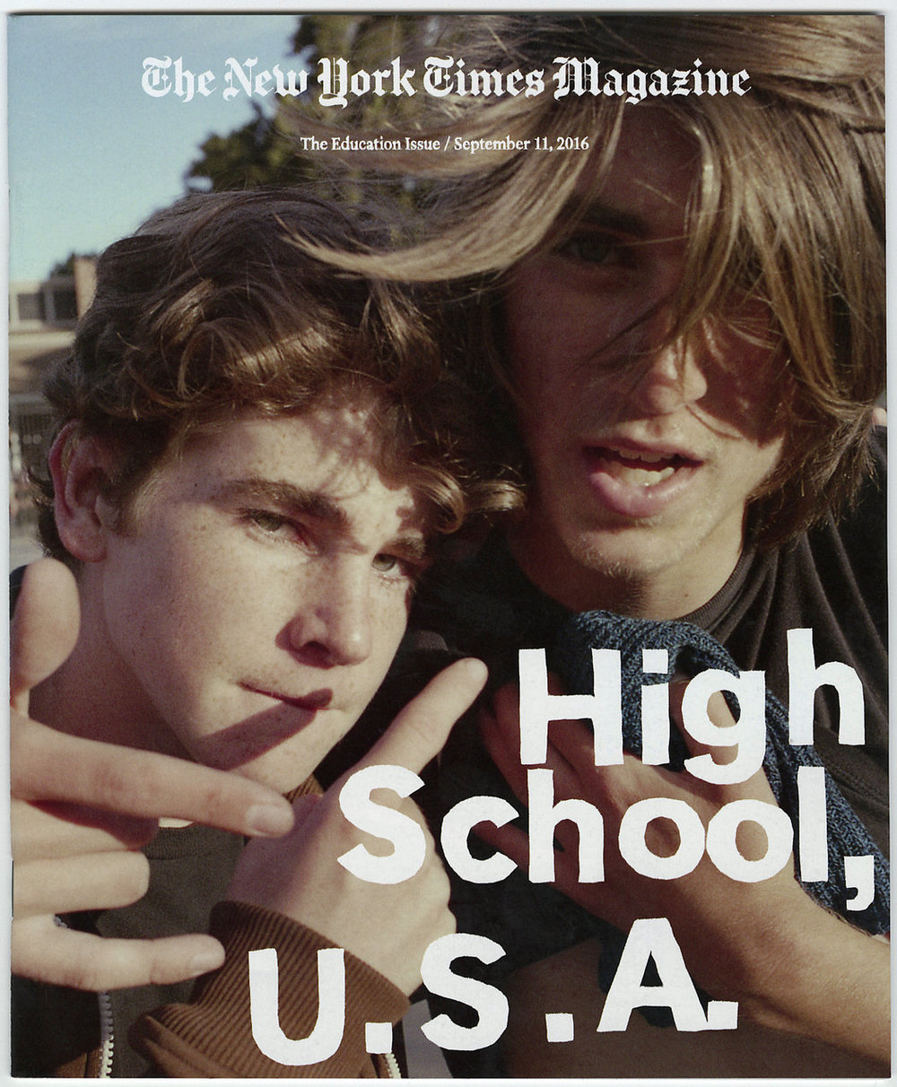 'Inside Santa Monica High' - 2016, The New York Times Magazine Cover Story