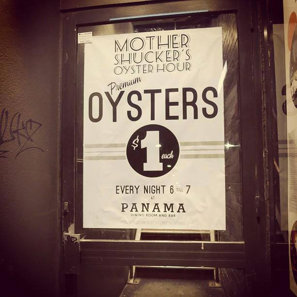 1 DOLLAR OYSTERS Panama Dining Room